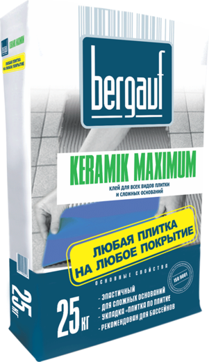 Bergauf Keramik Maximum клей для всех видов плитки и сложных оснований (25 кг)