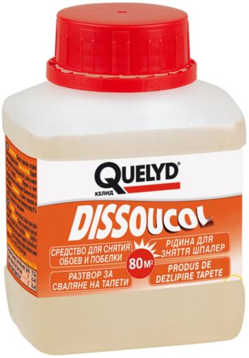 Quelyd Dissoucol средство для снятия обоев и побелки
