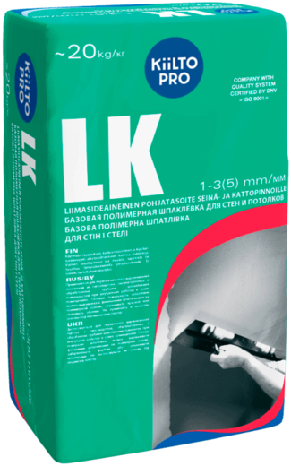 Kiilto LK базовая полимерная шпаклевка для стен и потолков