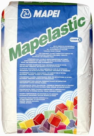 Mapei Mapelastic гидроизоляция двухкомпонентная (24 кг)