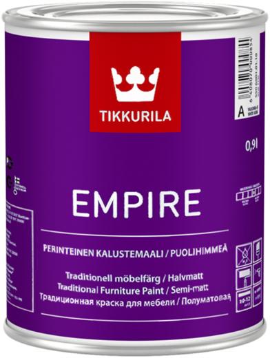 Тиккурила Эмпире традиционная алкидная краска для мебели полуматовая