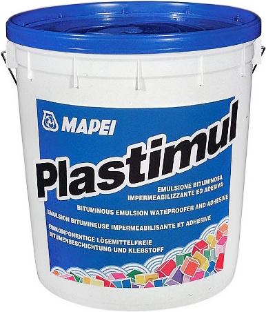 Mapei Plastimul универсальная гидроизоляционная битумная эмульсия (20 кг) черная