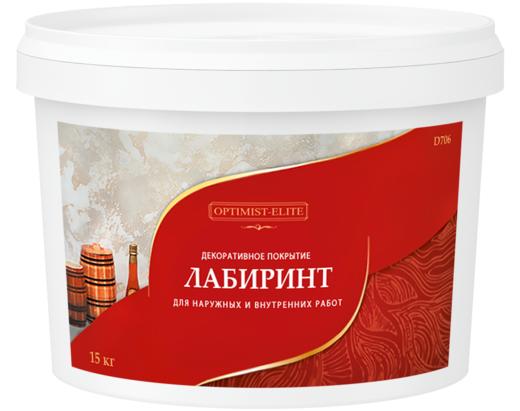 Оптимист Элит D 706 Лабиринт декоративное покрытие (25 кг)