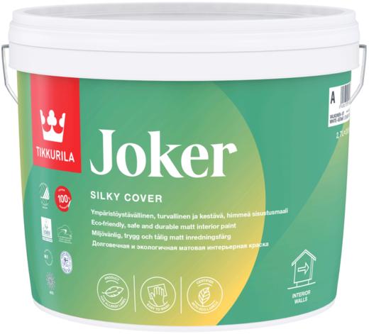 Краска Тиккурила Джокер экологичная для стен матовая 900 мл белая шелковистая