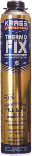 Krass Professional Thermo Fix клей-пена для теплоизоляционных работ полиуретановый (750 мл)
