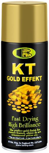 Bosny 18 KT. Gold золотая спрей-краска аэрозольная (300 мл) медная металлик