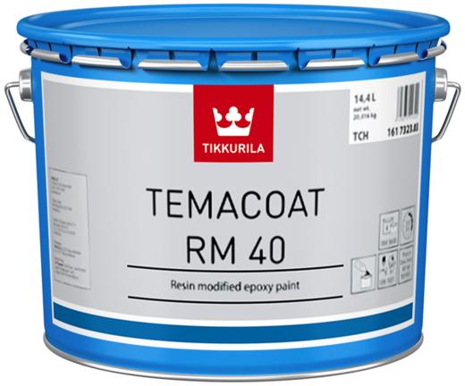 Тиккурила Темакоут РМ 40 универсальная двухкомпонентная эпоксидная краска (3 л база TVH) белая