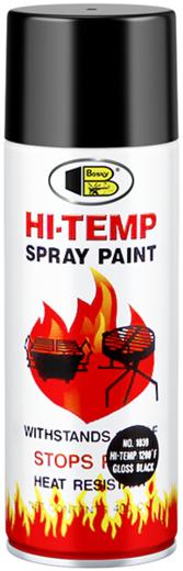 Bosny Hi Temp Spray Paint жаростойкая спрей-краска (400 мл) серебряный металлик