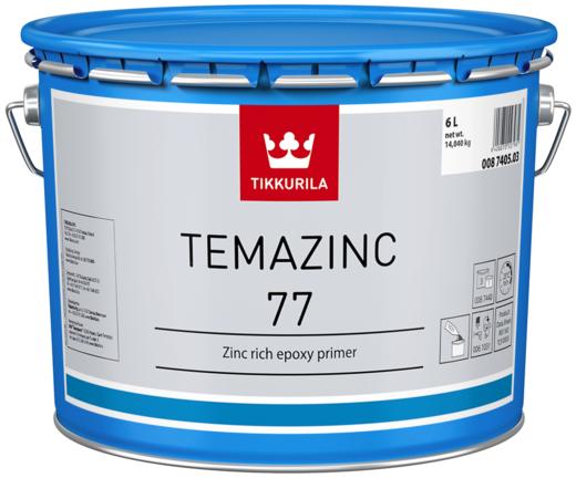 Тиккурила Темацинк 77 двухкомпонентная эпоксидная цинкнаполненная краска (10 л) серая