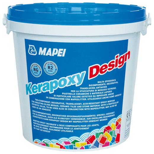 Затирка швов эпоксидная Mapei Kerapoxy Design (3 кг) небесная лазурь