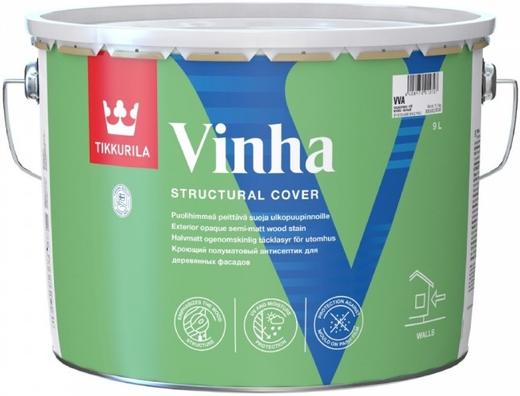 Тиккурила Винха кроющий полуматовый антисептик для деревянных фасадов (900 мл) белая