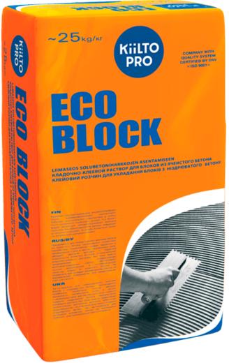 Kiilto Pro Eco Block кладочно-клеевой раствор для блоков из ячеистого бетона (25 кг)