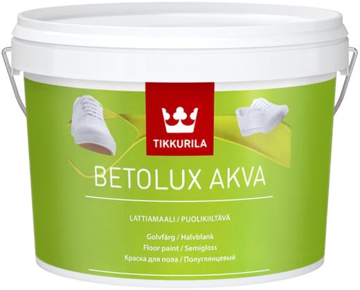Тиккурила Бетолюкс Аква водоразбавляемая краска для пола полуглянцевая (9 л) белая