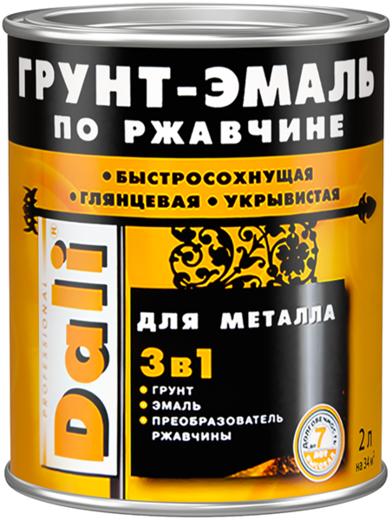 Dali грунт-эмаль по ржавчине 3 в 1 (10 л) красная гладкая
