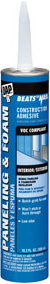 Строительный клей для панелей и вспененных материалов DAP Beats the Nail Paneling and Foam (305 мл)