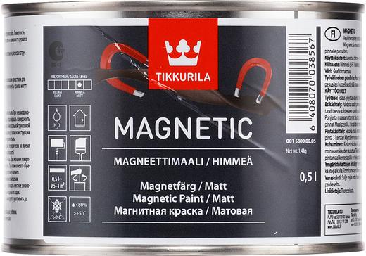 Тиккурила Магнетик магнитная краска матовая (500 мл) серая магнит