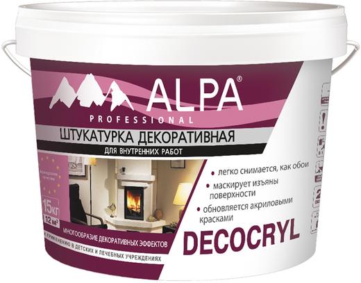 Alpa Decocryl штукатурка декоративная для внутренних работ (15 кг)