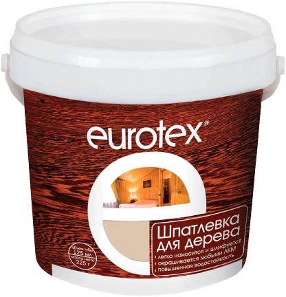 Евротекс шпатлевка акриловая для дерева (225 г) белая