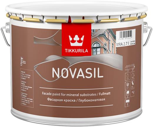 Тиккурила Новасил щелочестойкая фасадная краска глубокоматовая (9 л) белая