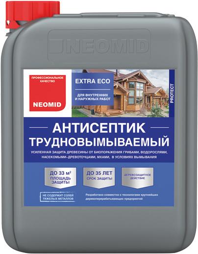 Антисептик Неомид Extra eco трудновымываемый деревозащитный для внутренних и наружных работ 5 кг