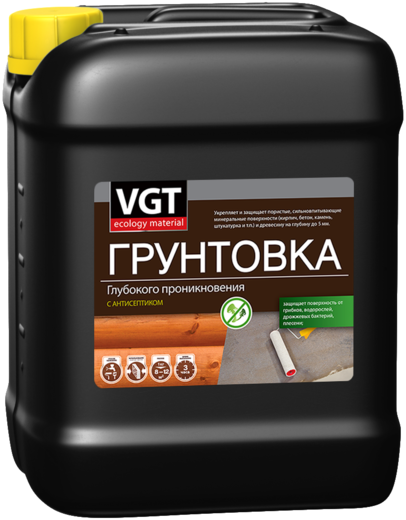 ВГТ ВД-АК-0301 грунтовка глубокого проникновения с антисептиком (10 кг)
