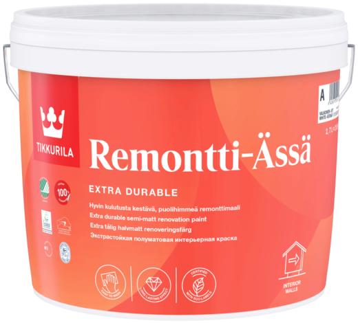 Тиккурила Ремонтти-Ясся стойкая к мытью интерьерная краска полуматовая
