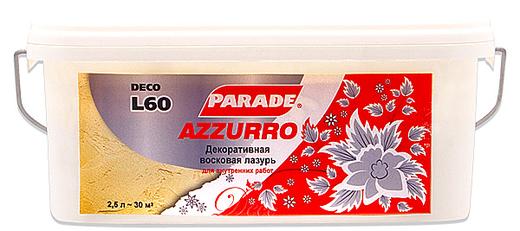 Parade L60 Azzurro декоративная восковая лазурь (2.5 л)