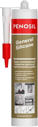Герметик Penosil General silicone силиконовый для всех строительных работ 310 мл бесцветный