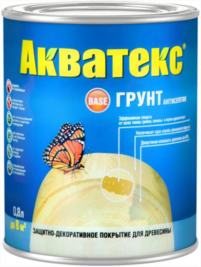 Акватекс Грунт антисептик защитно-декоративное покрытие древесины (10 л) бесцветное