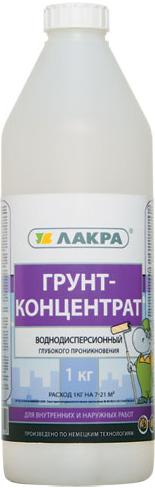 Лакра грунт-концентрат воднодисперсионный глубокого проникновения (1 кг)