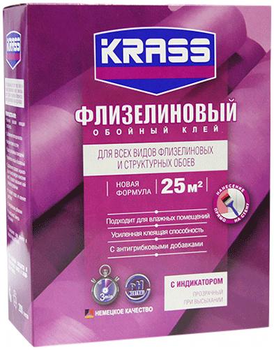 Krass Флизелиновый обойный клей для флизелиновых и структурных обоев (200 г)