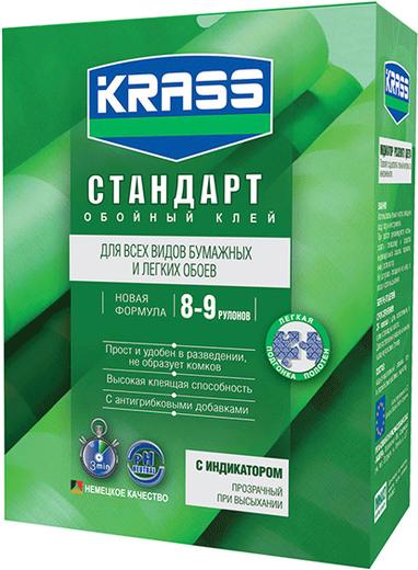 Krass Стандарт обойный клей для бумажных и легких обоев с индикатором (250 г)