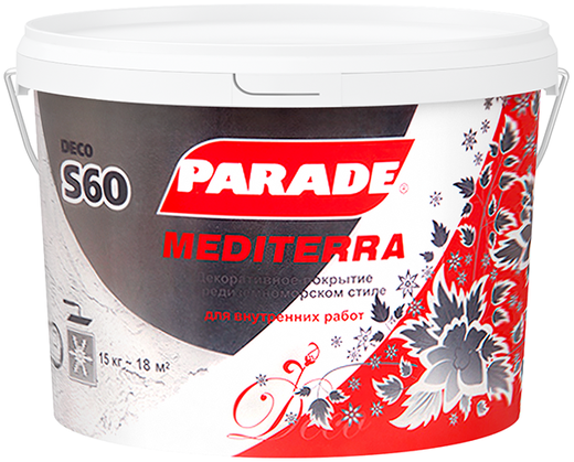 Parade S60 Mediterra декоративное покрытие (15 кг)