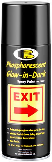 Bosny Phosphorescent Glow-in-Dark Spray Paint фосфоресцентная спрей-краска светящаяся