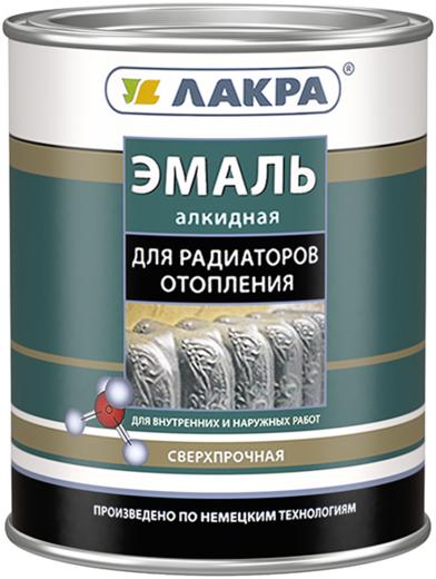 Лакра эмаль алкидная для радиаторов отопления сверхпрочная (900 г) белая