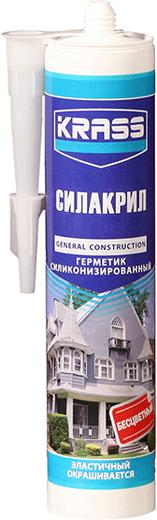 Герметик Krass Силакрил силиконизированный эластичный 300 мл белый