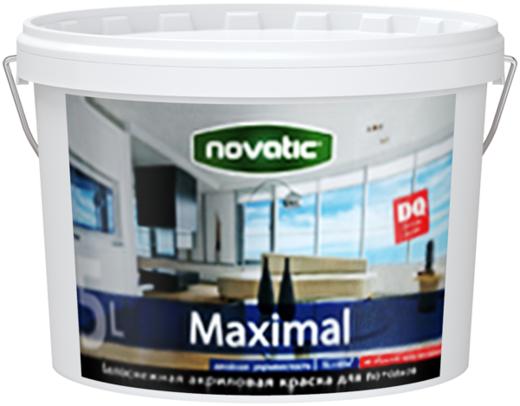 Feidal Novatic Maximal белоснежная акриловая краска для потолков (2.5 л) белоснежная