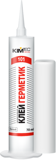 Клей герметик силиконовый Ким-Тек 101 (70 мл) белый