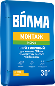 Монтаж мороз гипсовый для монтажа пгп, гкл тонкослойный 30 кг