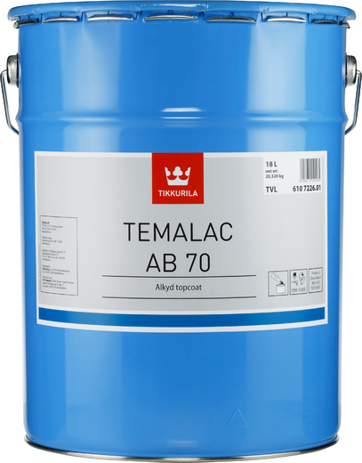 Тиккурила Темалак АБ 70 покрывная алкидная краска глянцевая (20 л база TCL) бесцветная