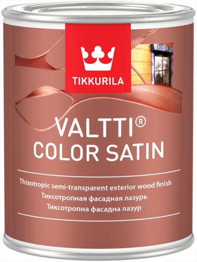 Тиккурила Валтти Колор Сатин тиксотропная фасадная лазурь антисептик с сатиновым блеском (9 л) бесцветный