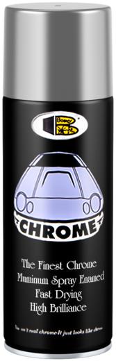 Bosny Chrome спрей-краска (300 мл) хром металлик