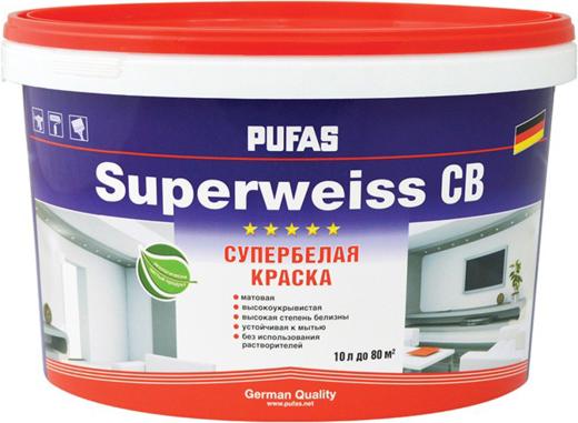 Пуфас Superweiss СВ краска супербелая