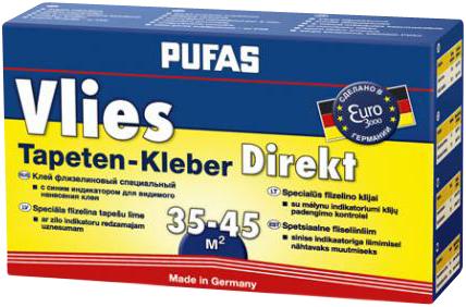 Пуфас Vlies Direkt специальный флизелиновый клей с синим индикатором (300 г)