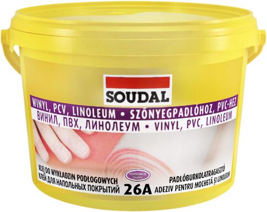 Soudal 26А Винил ПВХ Линолеум клей для напольных покрытий (5 кг)