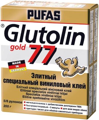 Пуфас Glutolin 77 Gold элитный специальный виниловый клей (200 г)