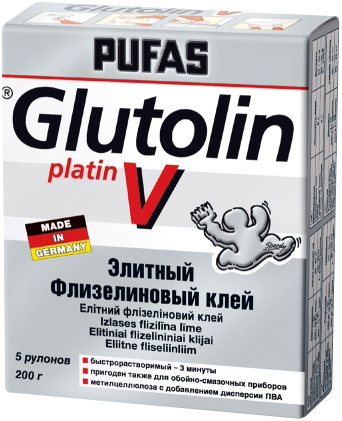 Пуфас Glutolin V Platin элитный флизелиновый клей (200 г)