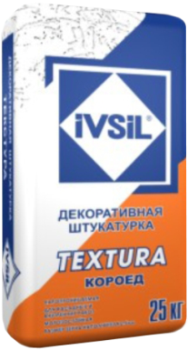 Ивсил Textura декоративная штукатурка короед фасадная (25 кг) зерно 2 мм
