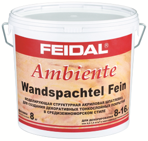 Feidal Ambiente Wandspachtel Fein моделирующая структурная акриловая шпатлевка (8 кг)
