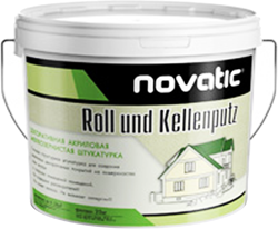 Feidal Novatic Silikon Roll- und Kellenputz структурная силиконовая штукатурка (8 кг)